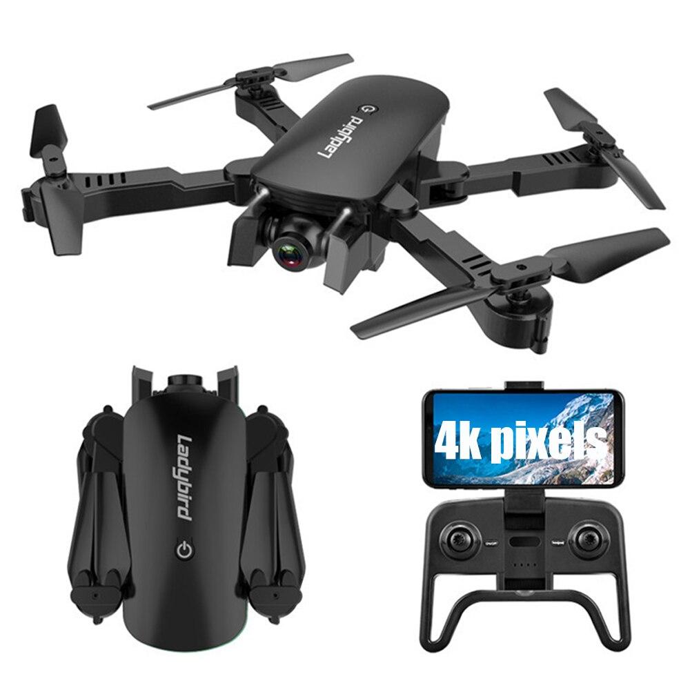 R8 drone 4K HD caméra aérienne quadrirotor flux optique vol stationnaire intelligent suivre double caméra télécommande hélicoptère avec caméra