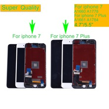 10Pcs/lot LCD Display For iphone 7 7p Display Touch Screen Digitizer Replacement Full Assembly for iPhone 7 Plus lcd Complete exin genuine new for macbook air 11a1465 full complete lcd led screen display assembly 2013 2015 md711 mjvm2 emc2631 emc2924