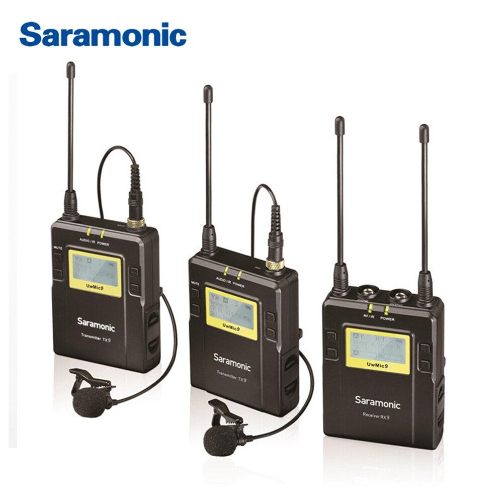 Saramonic UWMIC9 Diffusion UHF Caméra Sans Fil Micro-cravate Système Émetteurs + Un Récepteur pour DSLR Caméscope