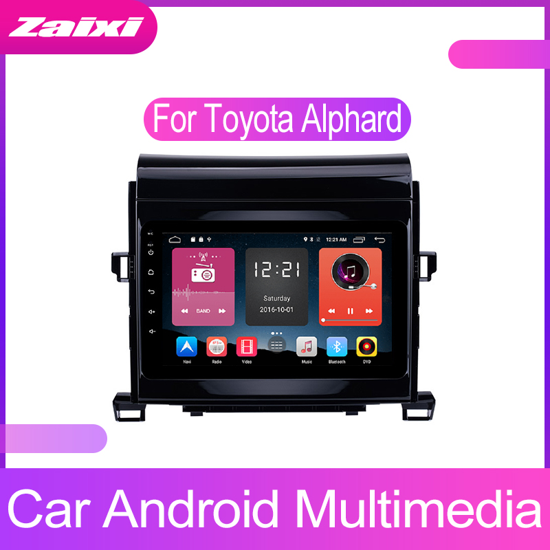 ZaiXi Touch screen Android car Audio for Toyota Alphard 2007~2014 support GPS navi Ipod BT radio mic Media Navigation system