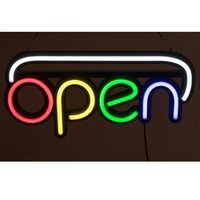 50*25cm LED Neon Light Sign RGB Letters Billboard Advertising Board High Bright Flashing Light Shop Bar coffee Restaurant Store