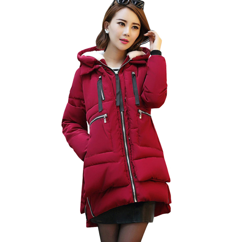 2018 Fashion Plus size 5XL Thick Parkas Jacket Women Winter Warm Short Style Solid Hooded Down Female Padded Slim Jacket Coats winter jacket women nice new style parkas overcoat brand fashion hooded plus size cotton padded warm jackets and coats aw1148