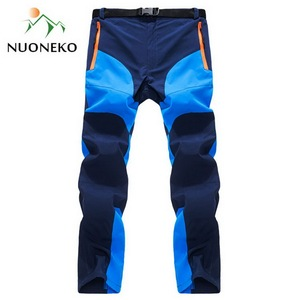 Image 3 - NUONEKO New Mens Summer Quick Dry Hiking Pants Men Outdoor Sports Breathable Trekking Trousers Mens Mountain Climbing Pants PN14