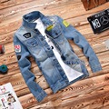 2016 New Mens Jackets Brand New Slim Fit Vintage Denim Patch Designs Jeans Jacket Men Coats Jaqueta Masculina Plus Size 4XL
