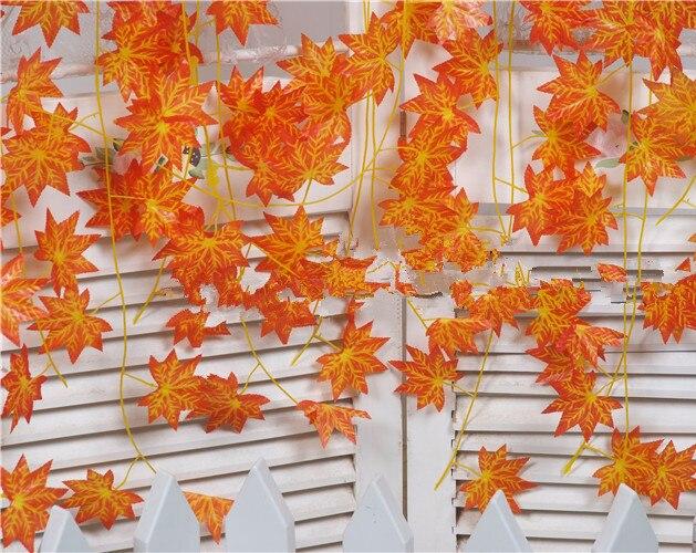 edf87e7ec94b05 Artificielle vigne rouge automne feuille d'érable fausse guirlande plantes  feuillage jardin pour la fête de mariage décoration de la maison dans ...