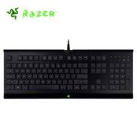 Original Razer Cynosa Wired Membrane Gaming Keyboard Macro Recording Programmable Keys Splash proof No Backlight Gaming Keyboard