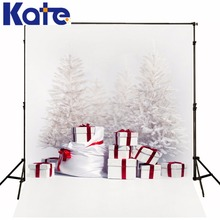 Kate Photography Backdrops Christmas Simple white Christmas Trees Boxs Fond Photographie Backdrops for Photography for Children