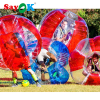 1.5m Inflatable Bumper Ball Air Bubble Soccer 0.8mm PVC Inflatable Body Zorb Ball Bubble Football Bubble Soccer Ball For Sale
