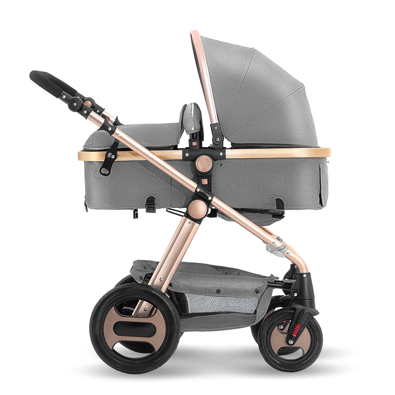 Babayfond high landscape baby stroller can sit reclining folding light portable four wheel shock absorber child baby stroller