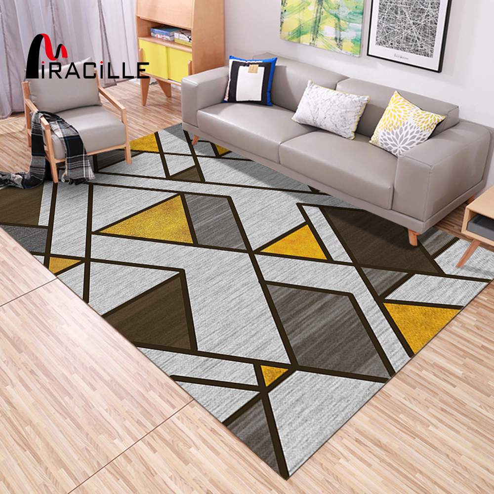 Washable Area Rugs Living Room: Miracille Home Decor Mat Living Room Rugs Non Slip Bedroom