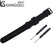 ФОТО  nylon strap with connector 24mm for suunto core watch accessories outdoor sports men's and women's strap