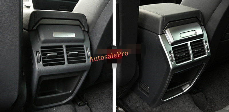 ABS Matt Armrest Box Rear Back Air Condition outlet Vent Cover Trim For Land Rover Range Rover Evoque 2011 12 13 14 15 2016 center armrest rear back row passenger air vent decorative cover sticker trim for range rover evoque interior accessories