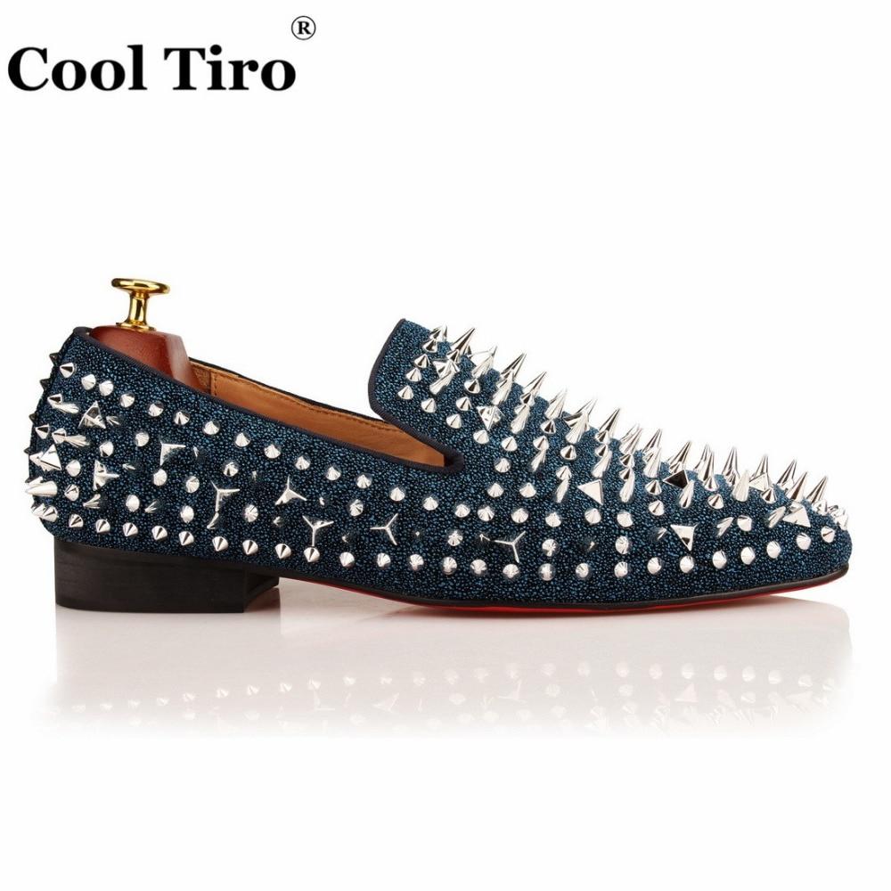Zapatos Cuero Diamantes Picos Cool Moda Planos Hombres Plata Contador Y Con  De Lujo La A ... 69d8047f2f12