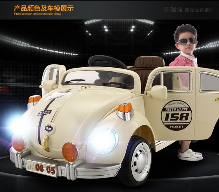 Electric Car For Kids To Ride On With Remote Control Music Beetle Baby Children Gift Christmas Frozen Toy Aliexpress Alibaba