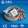 GE-медицинский цельный ЭКГ/ЭКГ кабель с 10 проводами banana 4,0 IEC CE и ISO13485 Бесплатная доставка! - фото