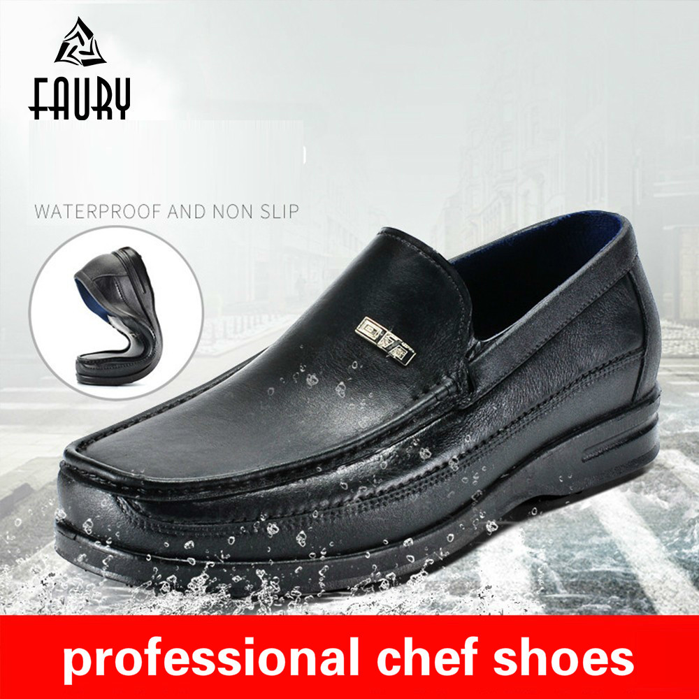 Chef Shoes Male Low Help Oil Proof Non-slip Rainshoes Water Shoes Boots Defence Work Leisure Time Rubber Overshoes Cook