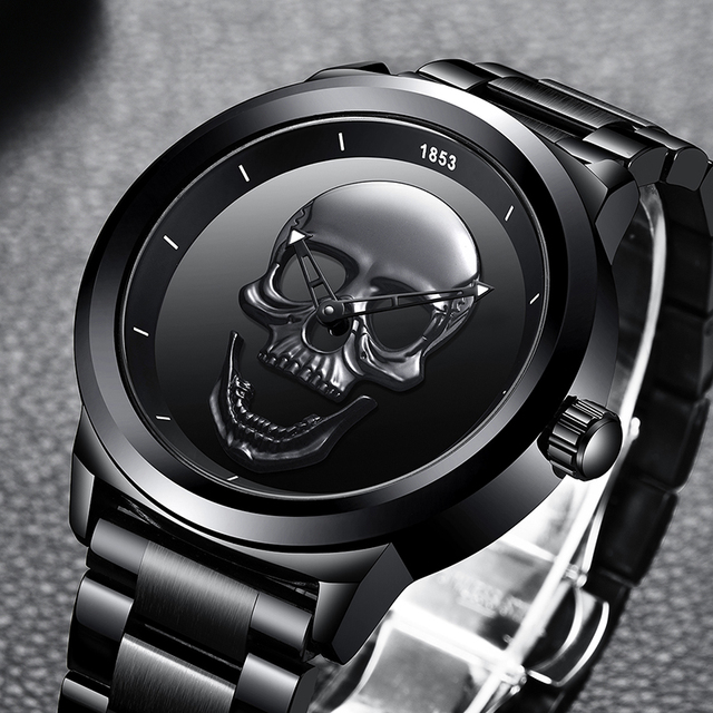 3D Skull Decorated Watch