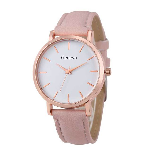 Fashion Woman Watches Reloj Mujer Leather Dress Ladies Woman's Geneva Watch Stee