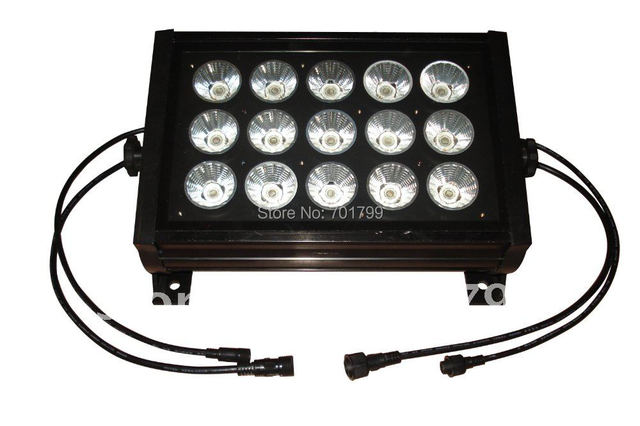 15*15W LED DMX flood light,AC100-260V input;3 in 1 RGB LED chip