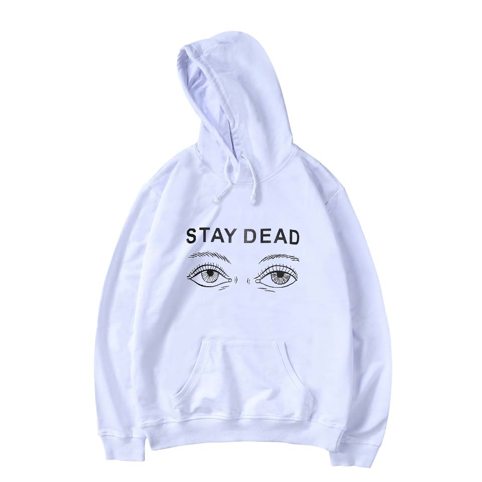 SMZY Eye Hooded Women Winter Sweatshirts Fashion Printing Stay Deda Women Winter Sweatshirts Casual Funny Streetwear Clother