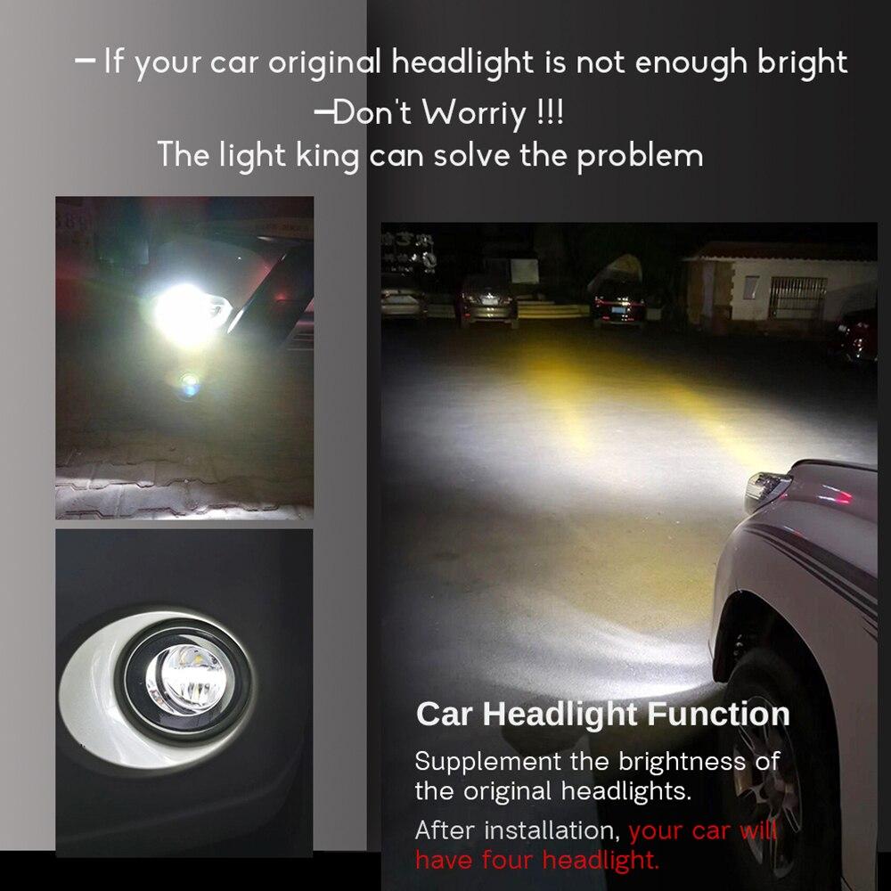4in1 voiture LED ampoule feu de brouillard phare haut feux de croisement DRL + faisceau de câbles 12V trois couleurs pour Infiniti EX EX25 EX35 EX37 2008 2013 - 2