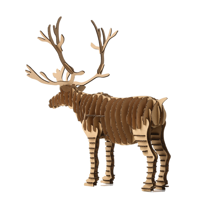 3d puzzle deer christmas reindeer decoration toy craft kids and adults diy cardboard animal paper model art children cool gift in puzzles from toys