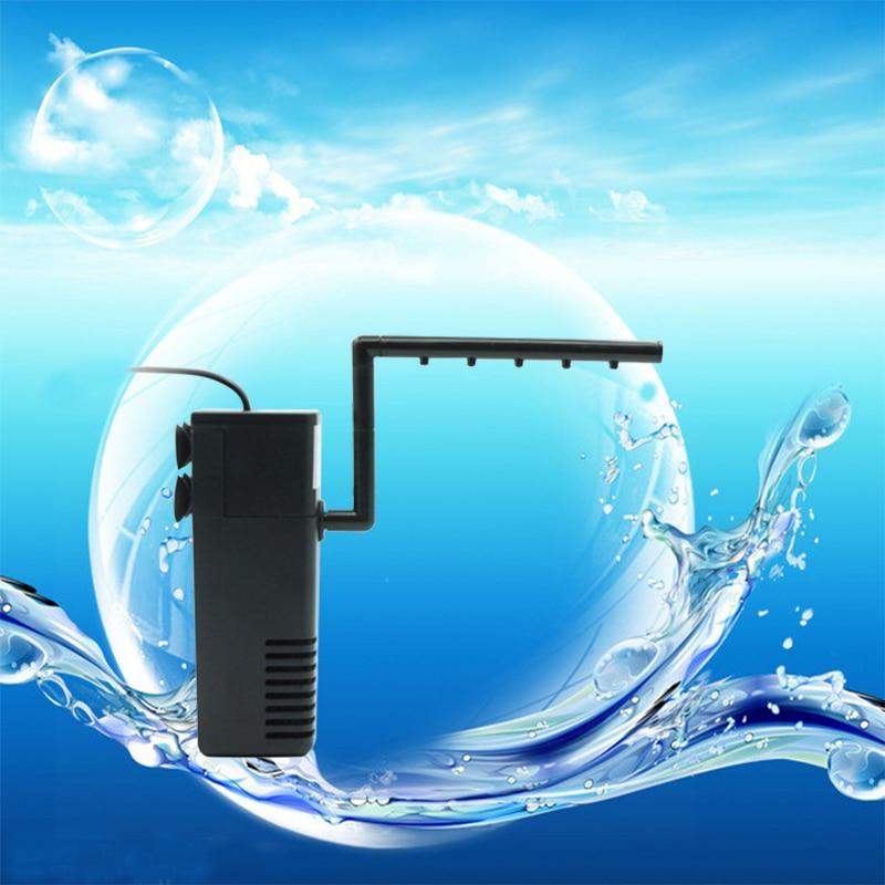 Aquarium Filter Multifunction Internal ABS Air Pump Skimmer with Aeration Aquarium Accessories Sponge Filter for Fish Tank decor