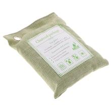 1 Piece 200g Bamboo Charcoal Air Purifying Bag Car Freshener Closet Purifier Home Vehicle Green