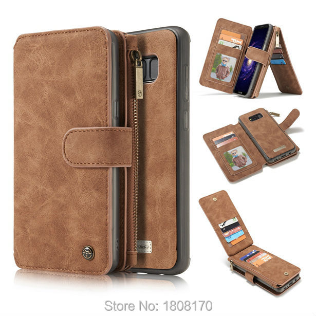 bilder für Caseme reißverschluss geldbörse leder case für iphone 5 5 s 5se 6 6 s plus 7 7 plus samsung s8 s7 rand note5 retro vintage haut beutel 1 stücke