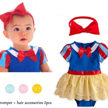 Baby girl Snow White Princess rompers baby girls cl