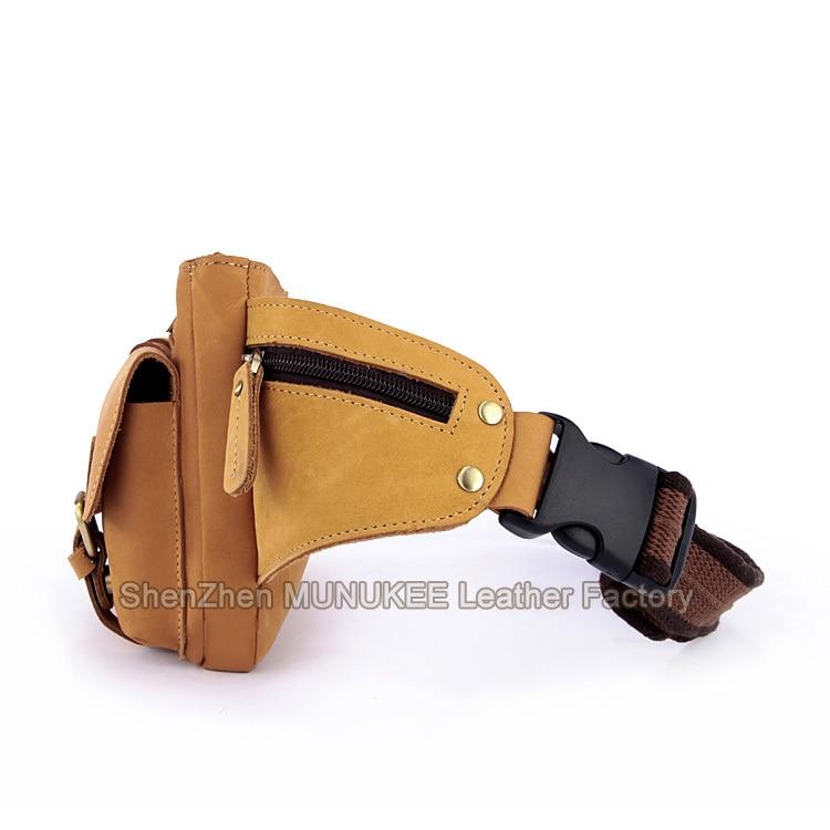 Retro Leder Taille Schiff Neuen Männer Kleine Fanny Taschen Brust Tasche Echtem 2015 Packs Der Braun Brown Freies Light Mode Pack TYCxqv