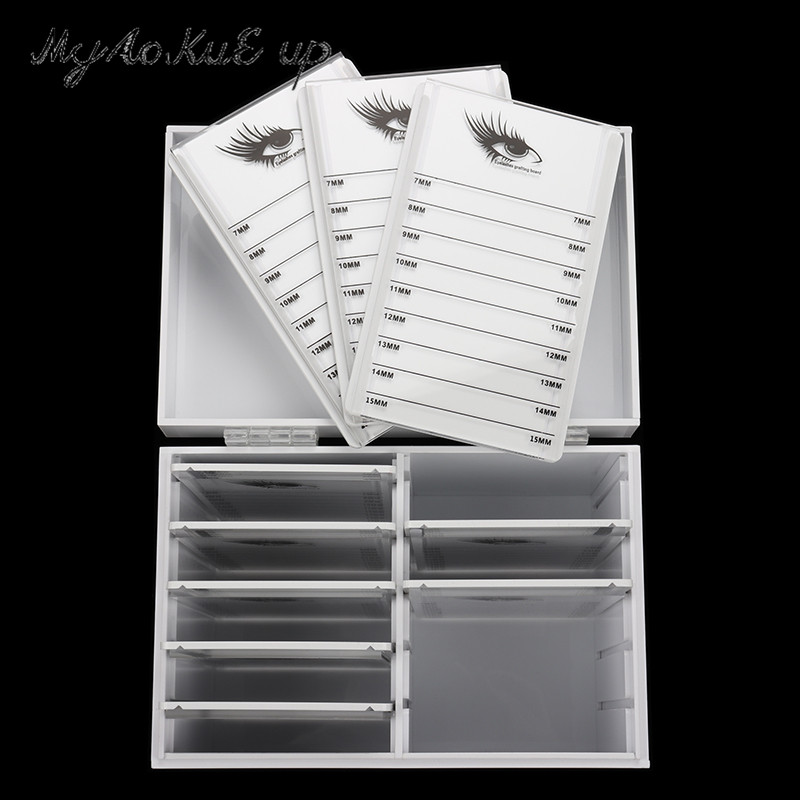 Image 5 - Clear Eyelashes Storage Box 10 Layers Acrylic Pallet Lash Holder Individual lash Volume Display Stand For Eyelash Extension Tool-in False Eyelashes from Beauty & Health