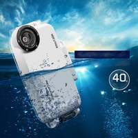 DULCII IPX8 Waterproof Diving Case For IPhone 7 7 Plus With 37mm Complete Graduated Color Filter