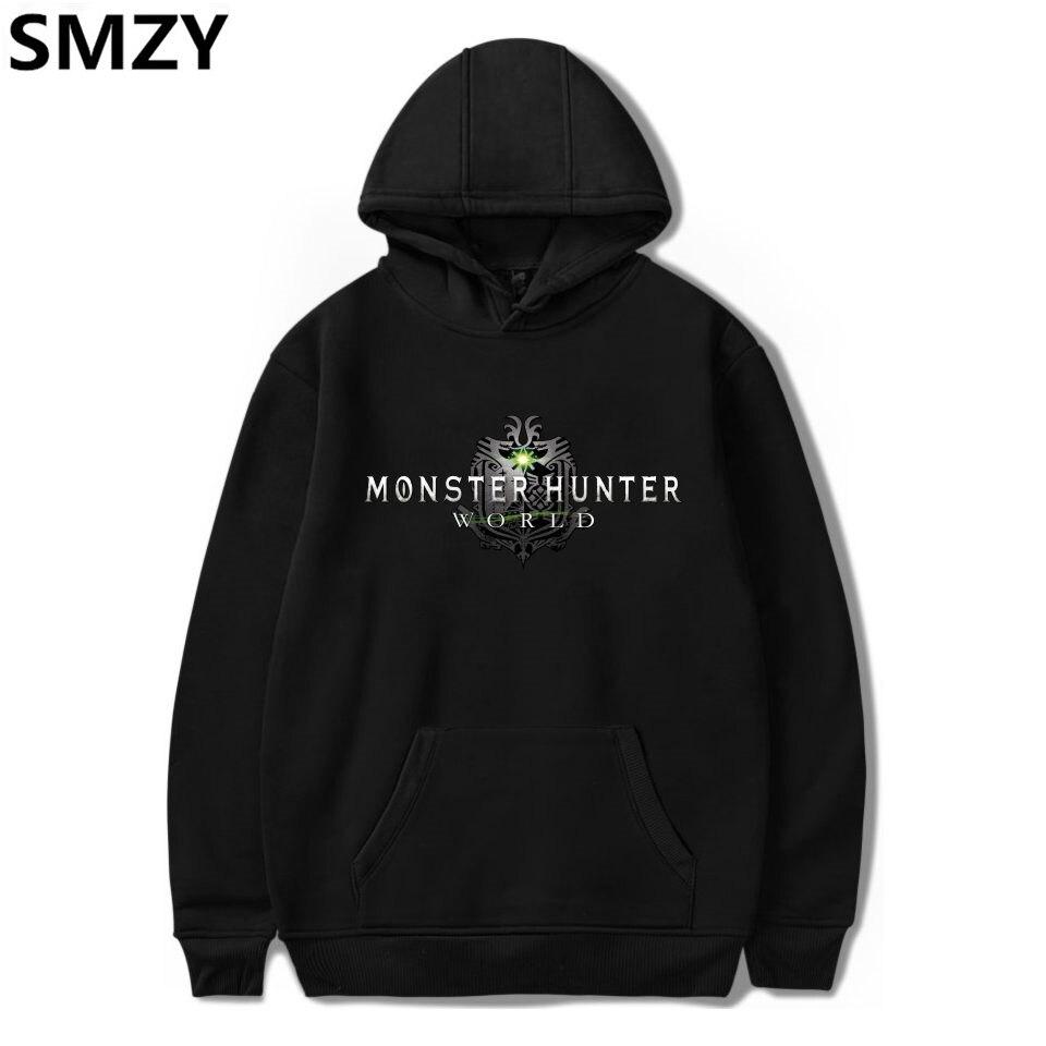 SMZY MHW Hooded Plus Size Hoodies And Sweatshirts Japan Pop ARPG Game Hoodies Sweatshirt Tops Pullovers Men Monster Hunter World