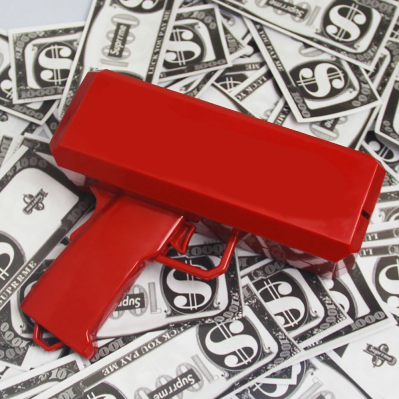 Cash Cannon Money Gun Make It Rain Toy Spit Banknotes Gun Red Christmas Gift Decompression Fidget for party toy