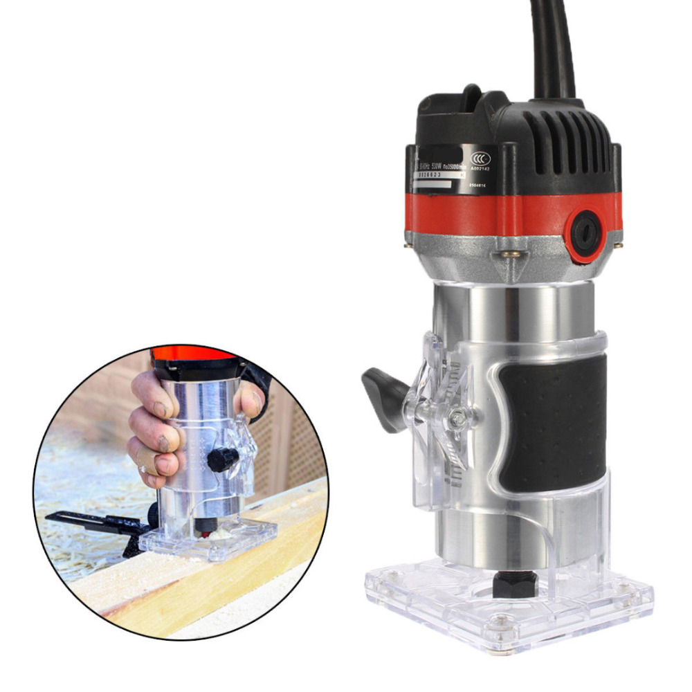 1 4 Electric Hand Trimmer Wood Router Trimmer 530W Electric Woodworking Trimmer Wood Edge Router Tools