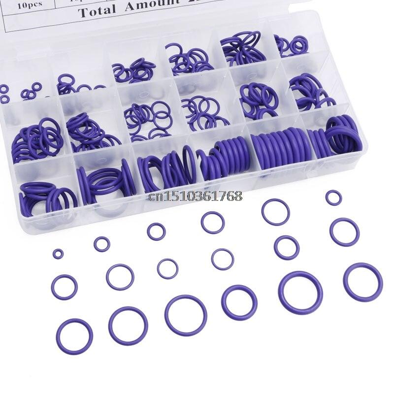 225 шт. уплотнительное кольцо R22 R134a кондиционер уплотнительное кольцо Резиновая Шайба Ассортимент PL# Y05# C05