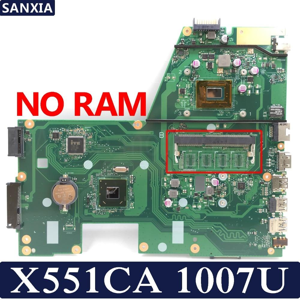 Kefu X551CA материнская плата для ноутбука ASUS X551CA X551CAP X551C X551 F551C F551CA Тесты Оригинал материнская плата 1007U 1xslot
