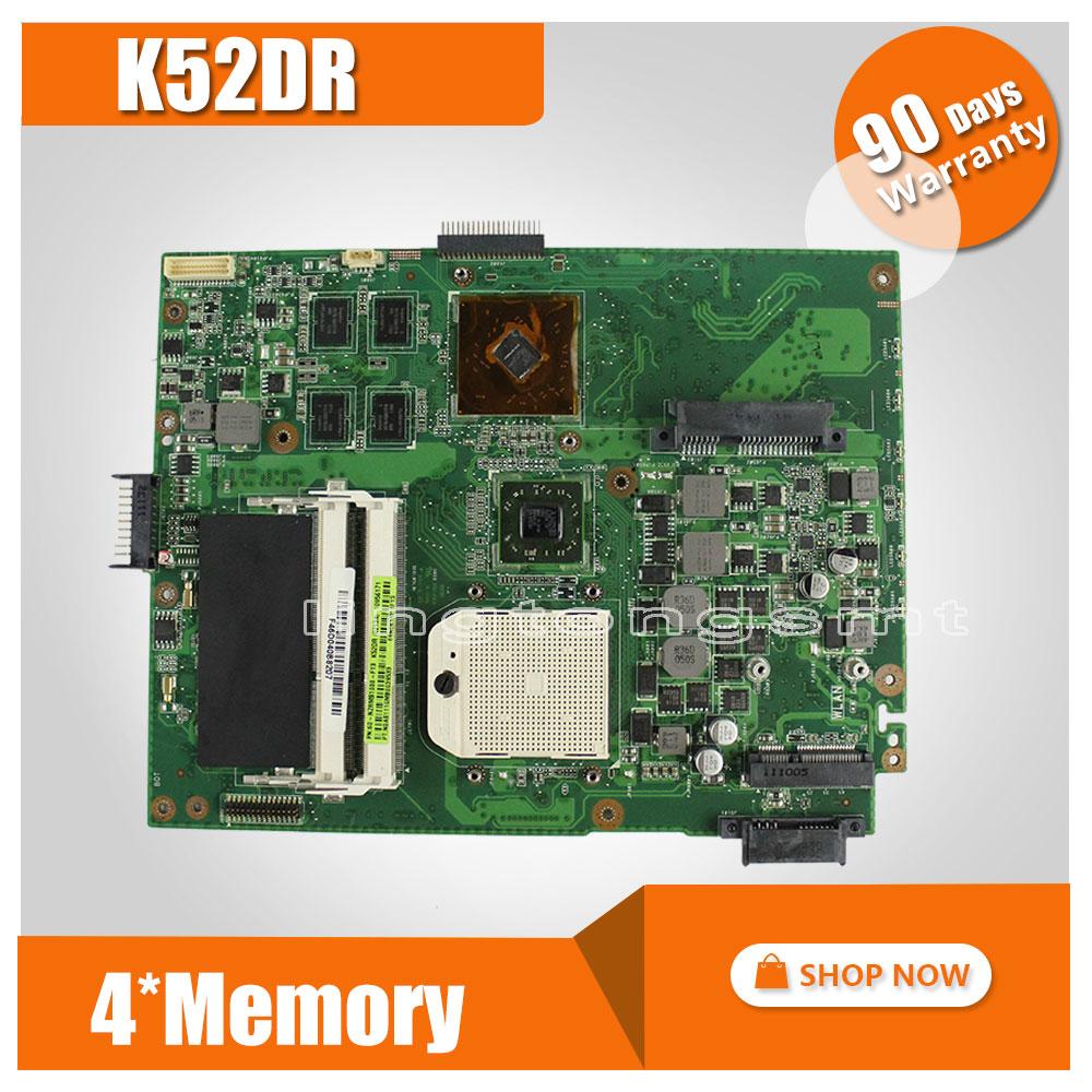 for ASUS K52DR laptop motherboard A52DE K52DE A52DR K52D Notebook mainboard HD5470 4pcs memory video card 100% tested