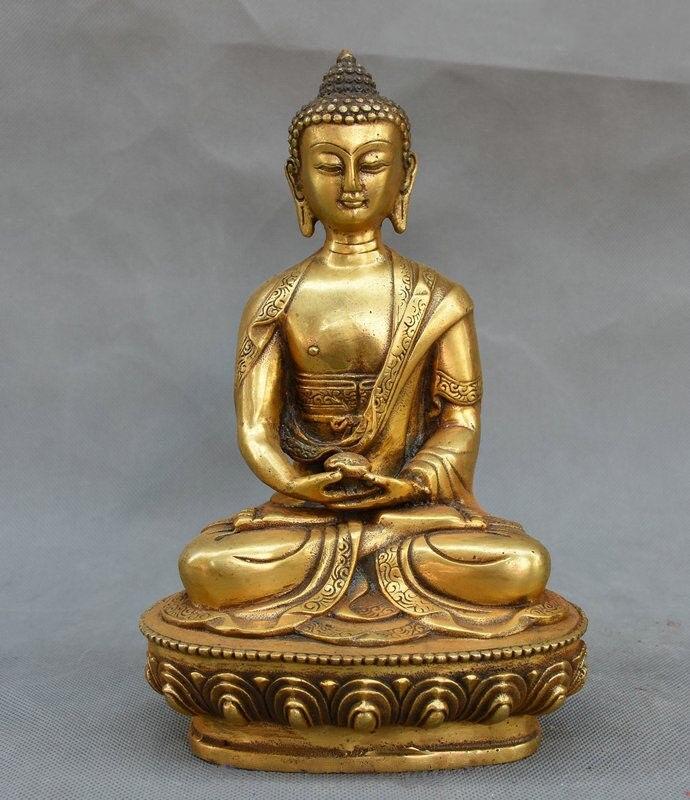 8 Tibet Buddhism Fane Bronze Gilt Sakyamuni Shakyamuni Amitabha Bowl Statue8 Tibet Buddhism Fane Bronze Gilt Sakyamuni Shakyamuni Amitabha Bowl Statue