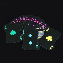 Hot Black Luminous Poker Card Night Bar Party KTV Fluorescent Playing Cards Game
