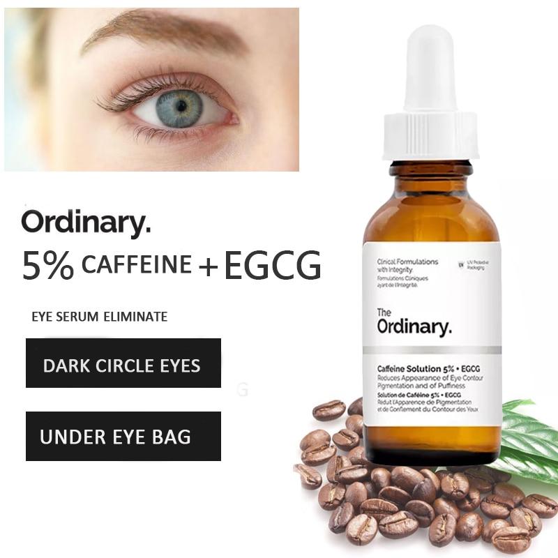 The Ordinary 5% Caffenie + EGCG Eye Serum Eliminate Best Eye Cream For Wrinkles Dark Circle Puffiness