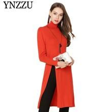 YNZZU 2019 Autumn Winter Turtleneck Women Sweaters Long sleeve Solid Warm Female