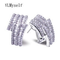 CZ Stud Earrings Jewelry Brand Designer Earrings Platium Plated With Top Quality Of Cubic Zircon Women