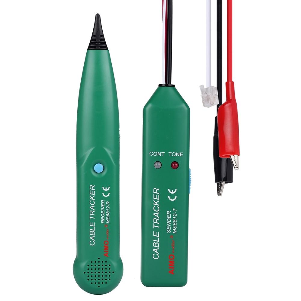 AIMOMETER MS6812 1 piezas nuevo 6F22 (9 V) cable Tester Teléfono Cable de red Cable Tester línea rastreador Detector de línea de alambre