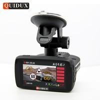 QUIDUX Russische Radar Detector GPS 3 in 1 Auto DVR LDWS Full HD 1080 P Video Camera Recorder Speedcam 1296 P Dashcam Radar detecteren