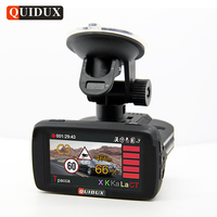 Russian Voice Full HD 1296P Car DVR Radar Detector GPS 3 In 1 Car Detector Camera