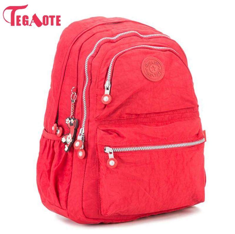 2017 TEGAOTE Women Backpack Nylon Printing School Bags for Teenage Girls Cute Bagpack Vintage Laptop Backpack Female Rucksack tourit 2016 new canvas printing backpack women school bags for teenage girls cute bookbags vintage laptop backpacks female