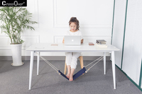 Adjustable Desk Foot Hammock Portable Feet Rest Pedal Office Foot Stand Disassemble Home Leisure Hanger Chair