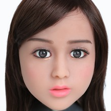 2017 Newest Top Quality Head 1# Big Doll's Head Tan Skin Sex Doll Head for Silicone Sex Doll Suitable For More Than 140cm Doll